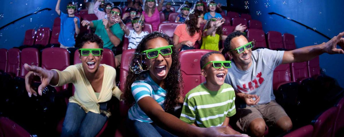 Audience thrilled into a 5D theater