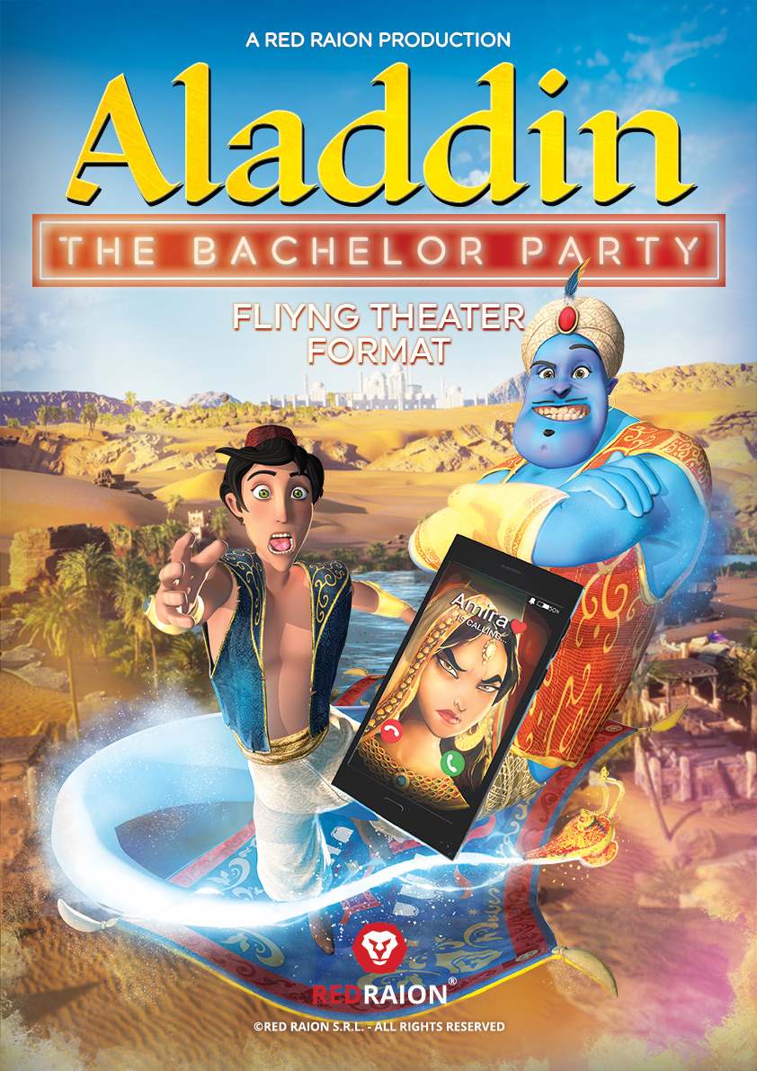 Aladdin - The Bachelor Party - Poster Flying Theater Movie